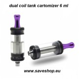 dual coil tank cartomizer  6ml